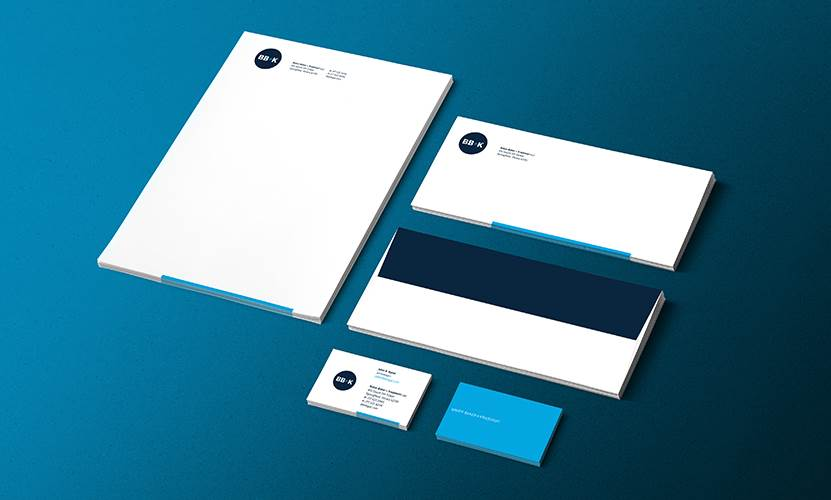 Logos and stationery designed by LRS