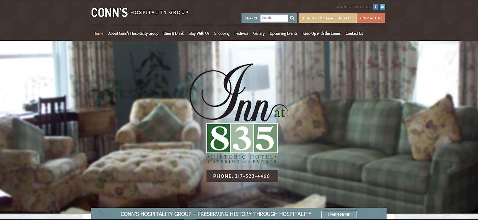 Conn's Hospitality Group outgrew its website menu
